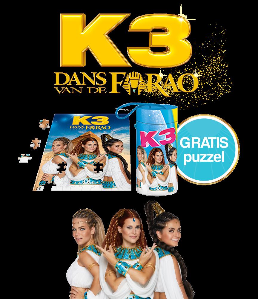 Gratis puzzel bij aankoop van €25 aan K3 producten!