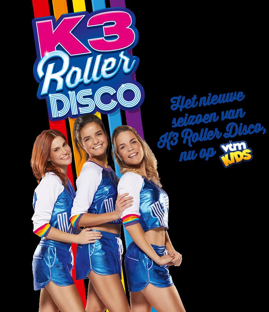 Het nieuwe seizoen van K3 Roller Disco, nu op VTM Kids!