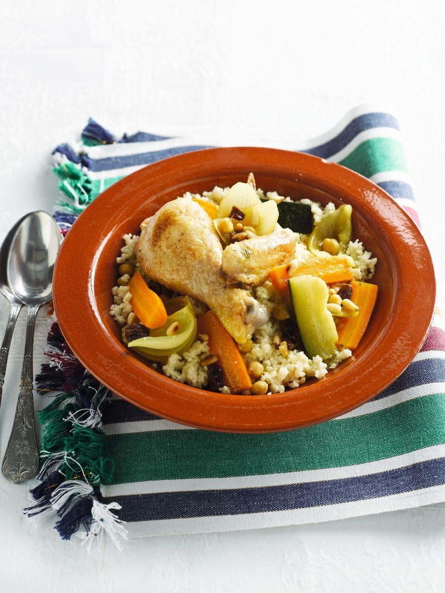 recept couscous kip rozijnen