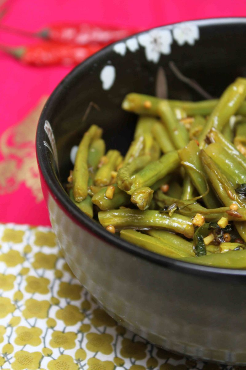 Curry met groene boontjes en gember