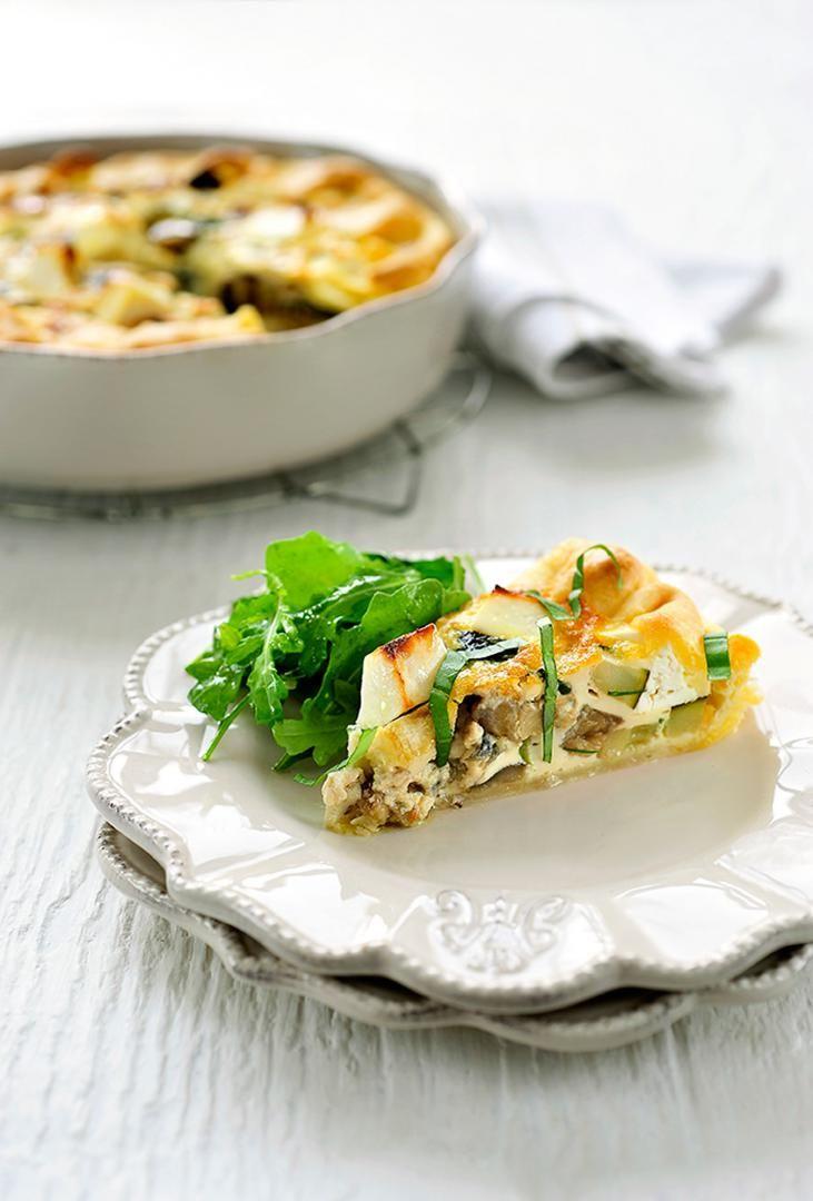 "Recept ""Quiche veggie met feta en basilicum"" | njam!"