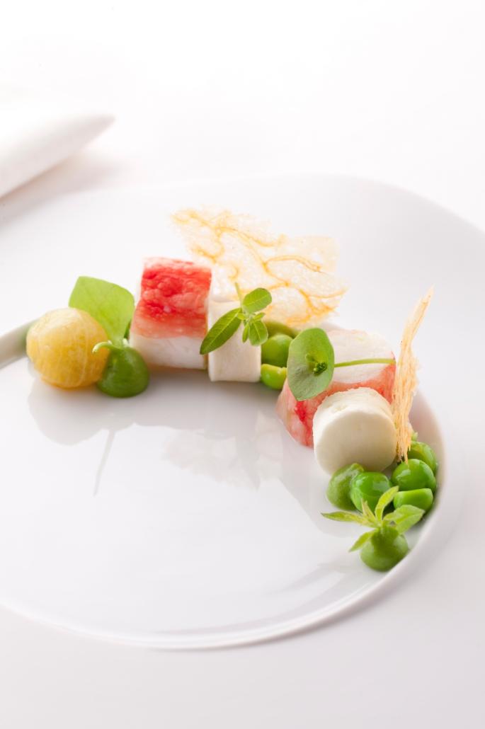 Recept Quot Koningskrab Met Wasabi En Erwt Verbena Emulsie