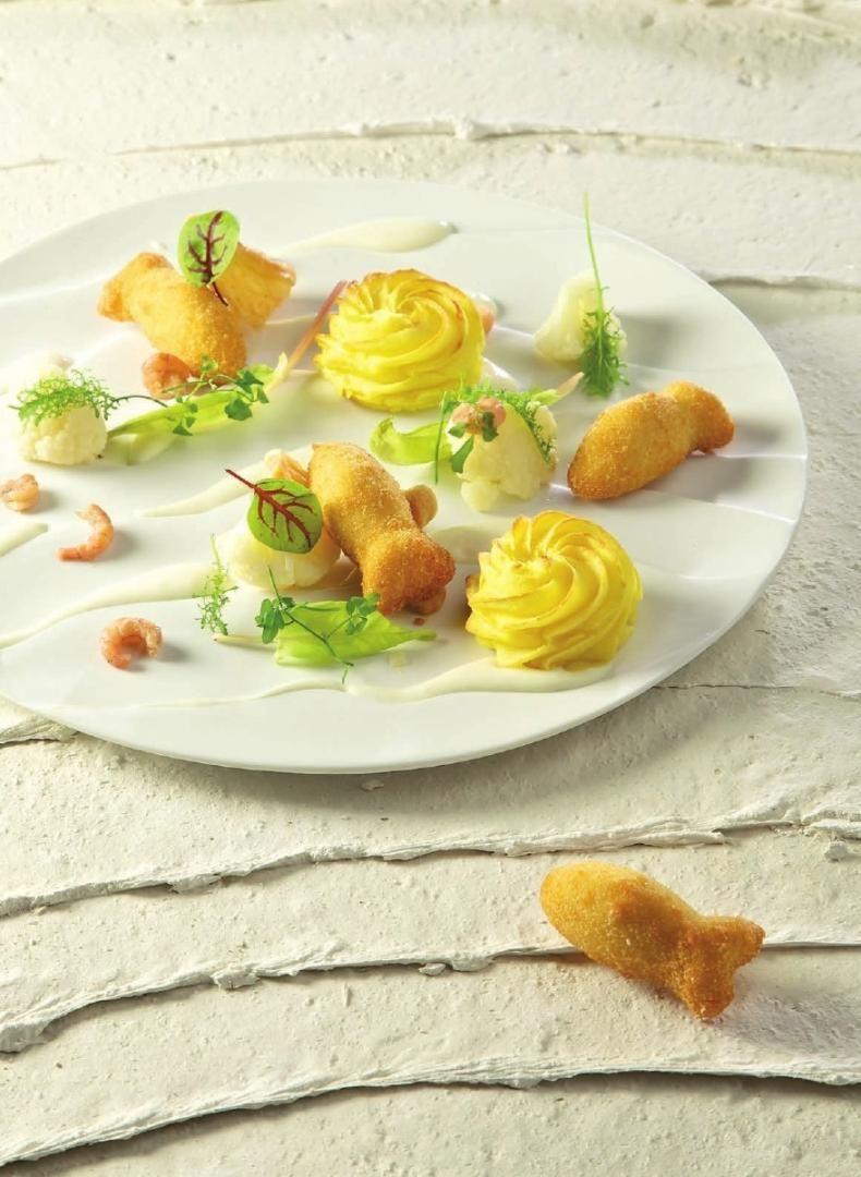 Fishsticks met aardappeltorentjes