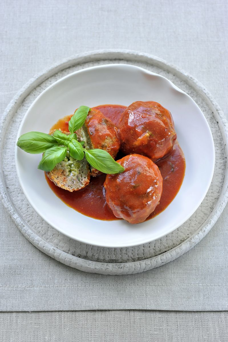 Peppe's polpette of balletjes in tomatensaus