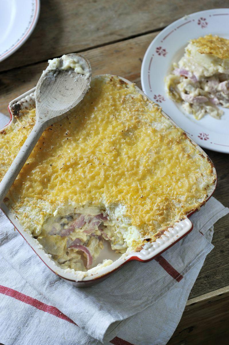 Ovenschotel met witloof en ham