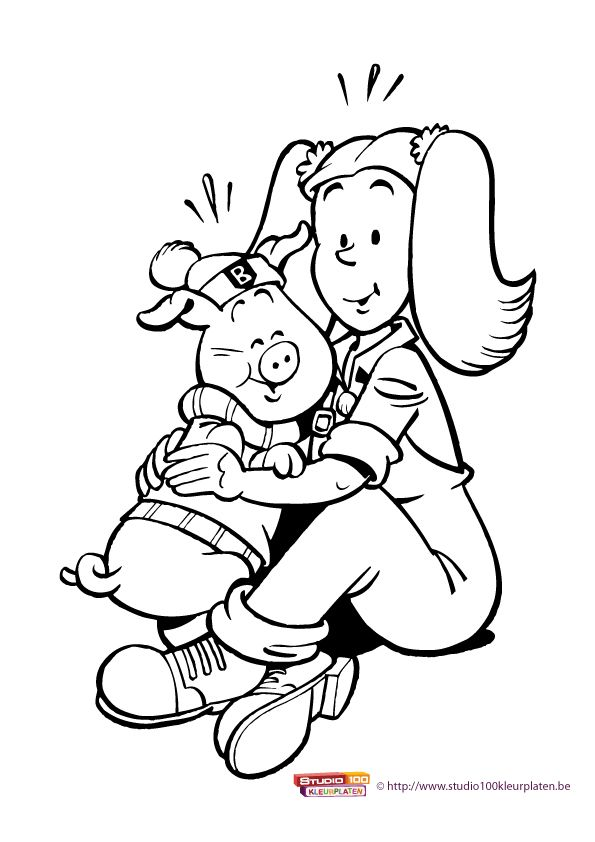 Kleurplaat 5: Big en Betsy