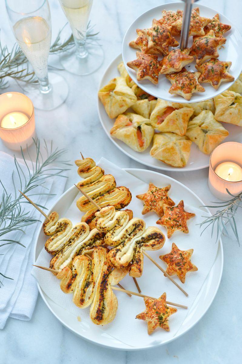 Bladerdeegsterretjes met parmezaan en rozemarijn