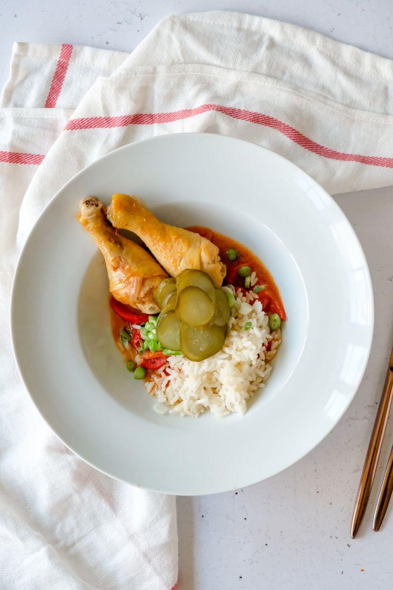 Kippengoulash met rijst