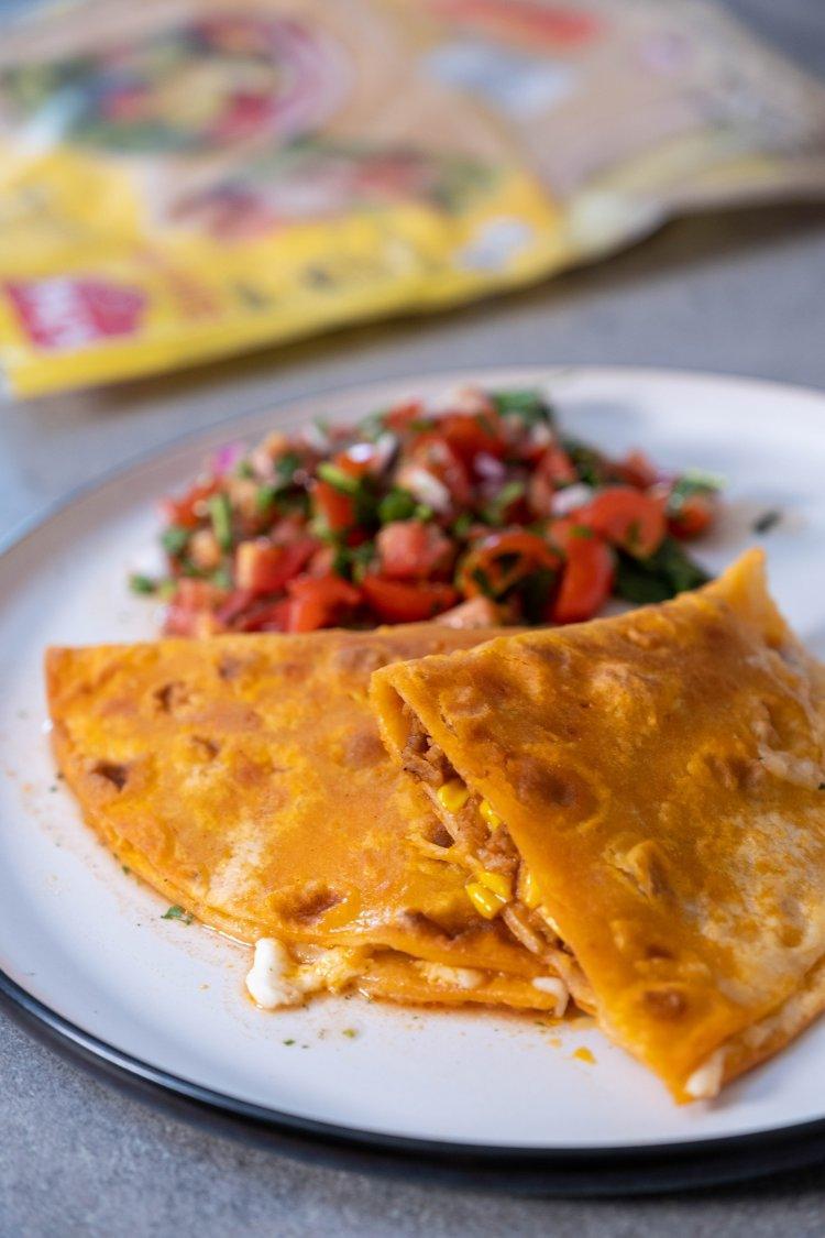 Glutenvrije quesadilla's met gehakt