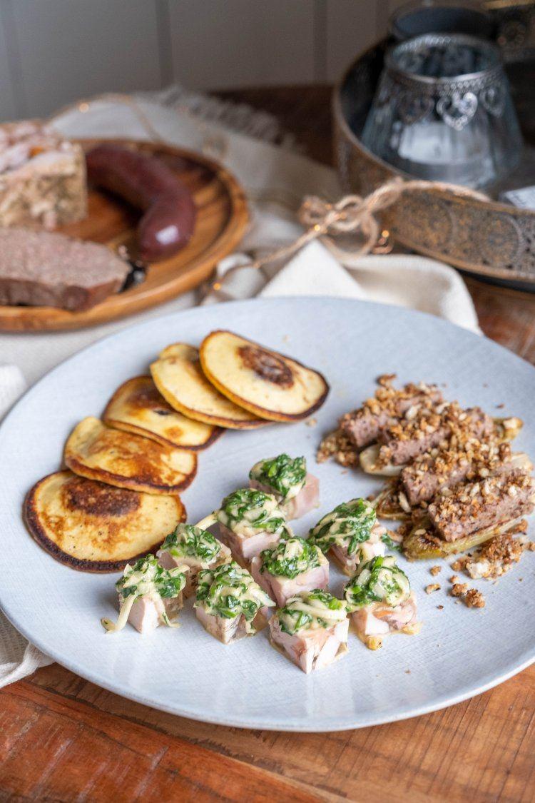 Potjesvlees met mayonaise van waterkers en knolselder