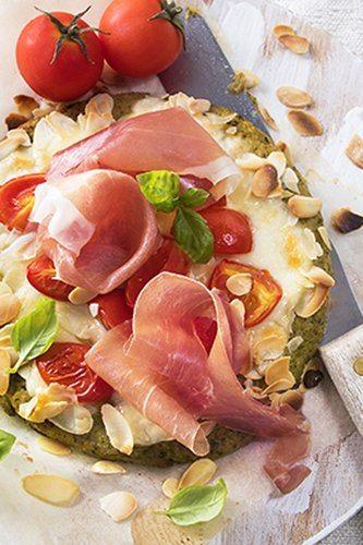 Krokante pizza met Parmaham