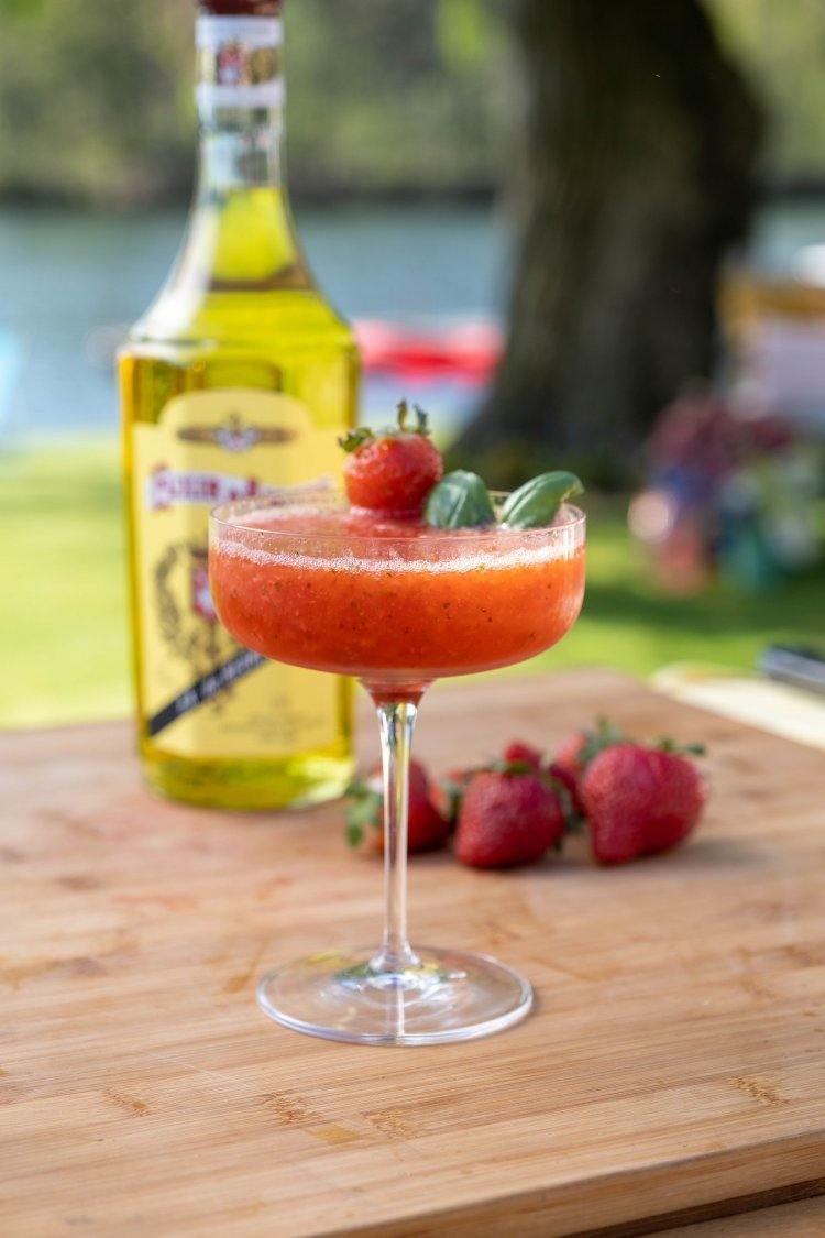 Strawberry Daiquiri met Elixir d'Anvers