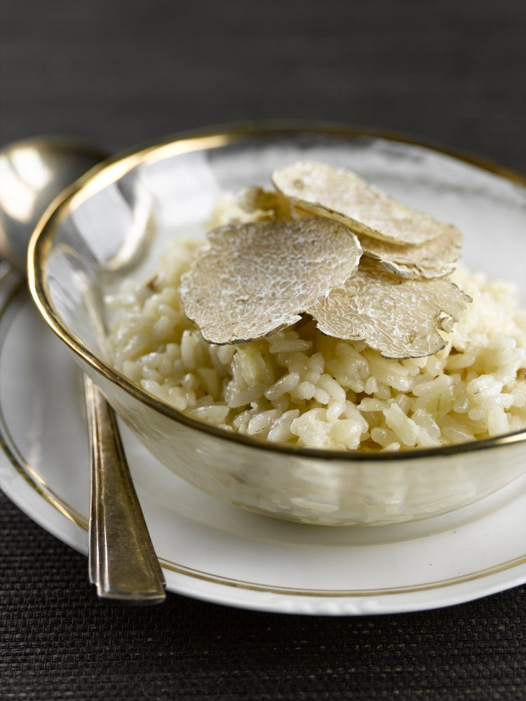 Risotto met witte truffels