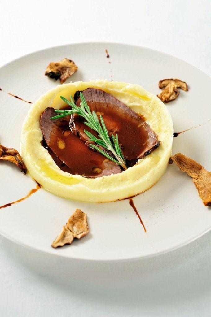 Gemarineerd rundsvlees met eekhoorntjesbrood