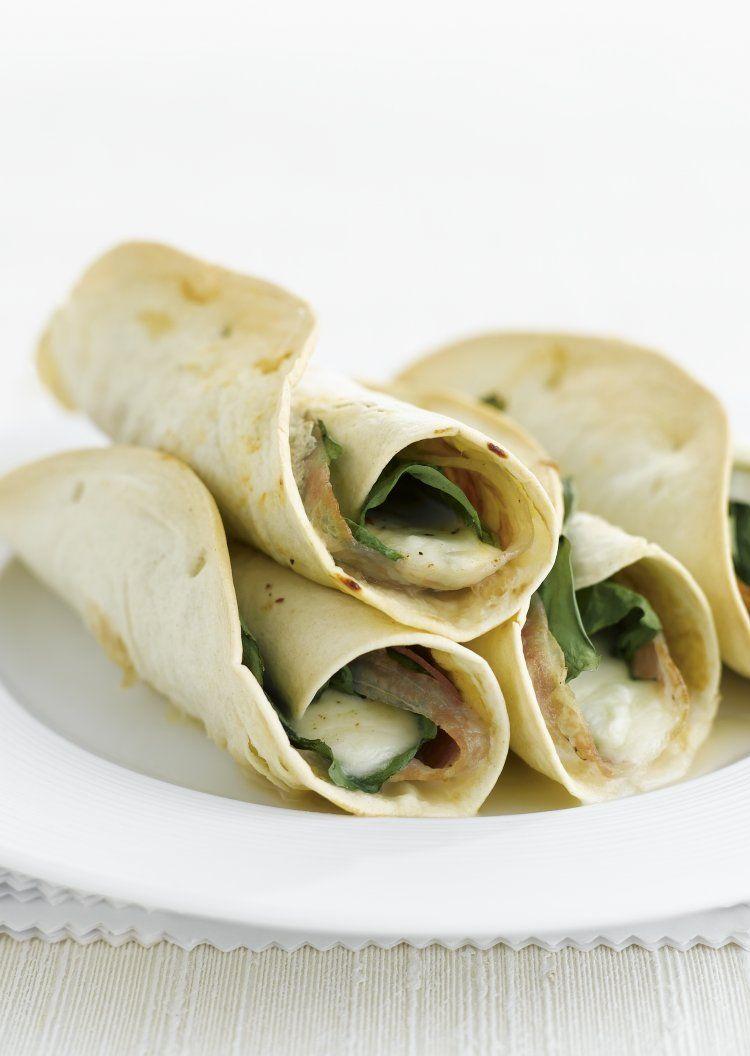 Italiaanse tortilla's met spinazie en pancetta