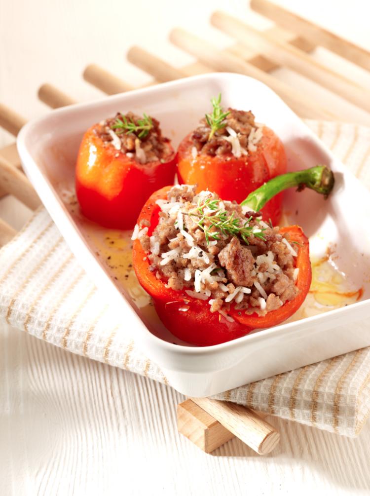 Gevulde tomaten en paprika's