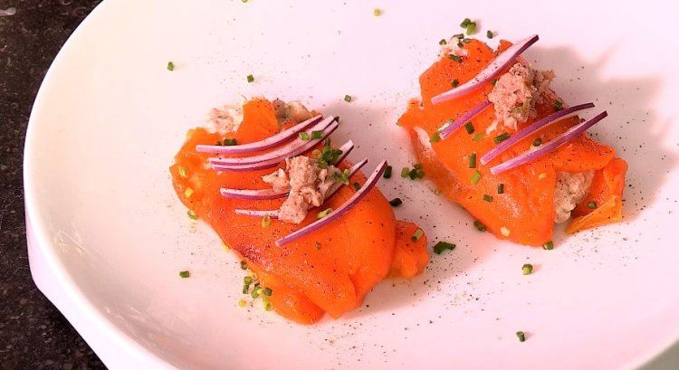 Opgevulde paprika met tonijn