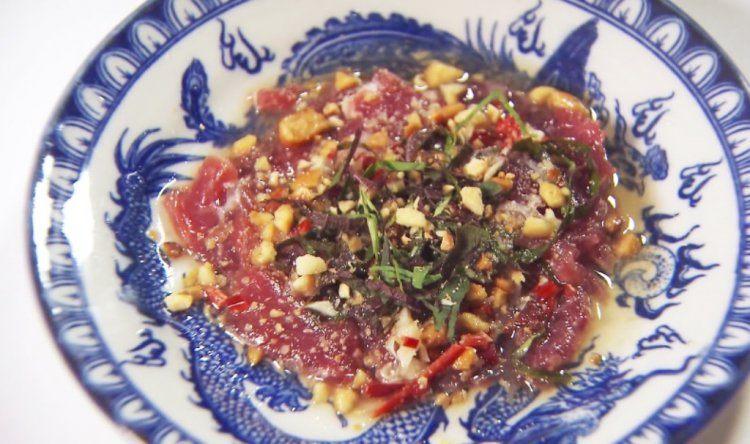 Carpaccio van rundsvlees op Vietnamese wijze