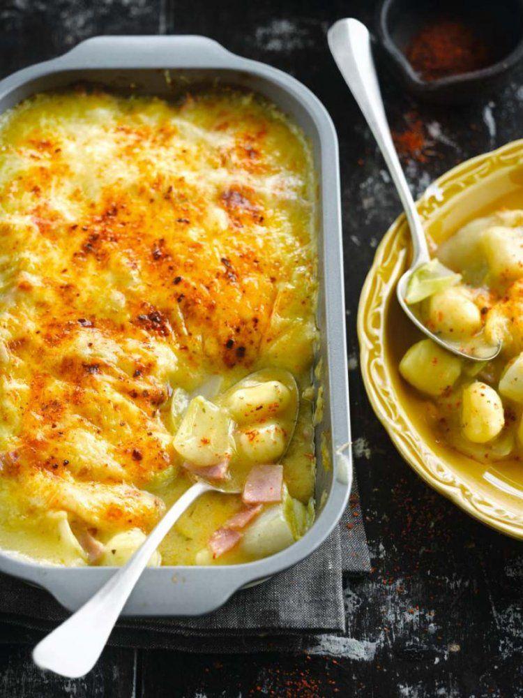 Gnocchi met witloof en ham