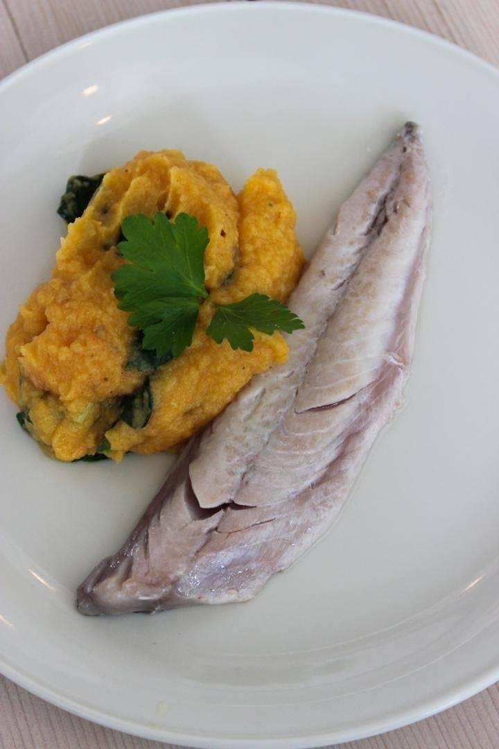 Groentepuree met makreel