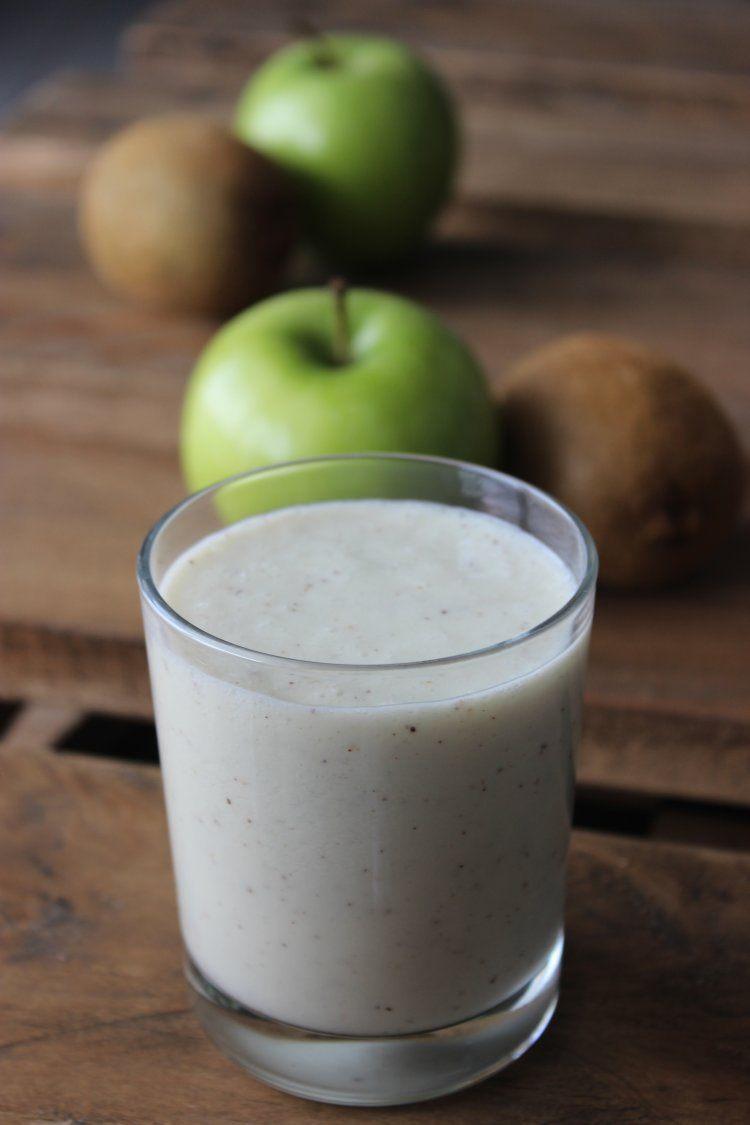 Milkshake met kiwi en appel
