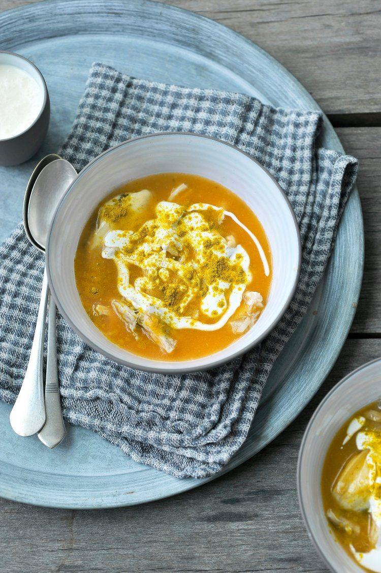 Currysoep met mosseltjes