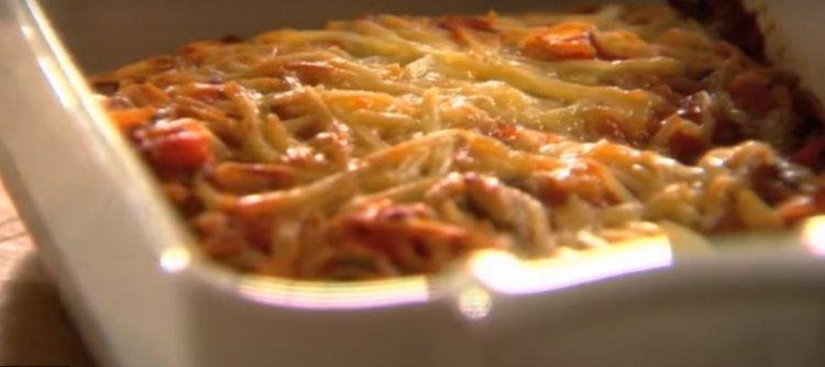 Volkoren lasagne verdure en carpaccio met truffelcrème