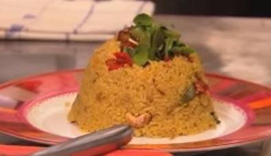 Biryani: Indisch rijstgerecht met scampi & saffraan