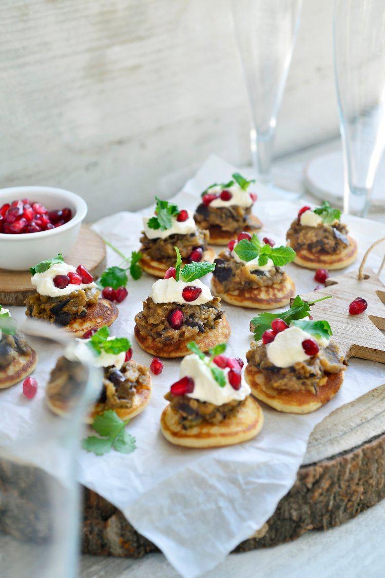 Blini's met auberginekaviaar