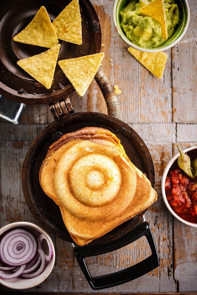 Mexicaanse croque met gehakt