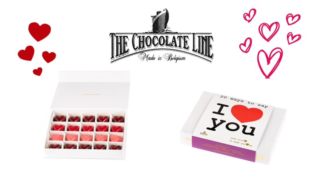 Win een doos pralines van The Love Collection van The Chocolate Line