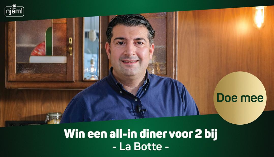 Win een all-in diner voor 2 personen bij La Botte