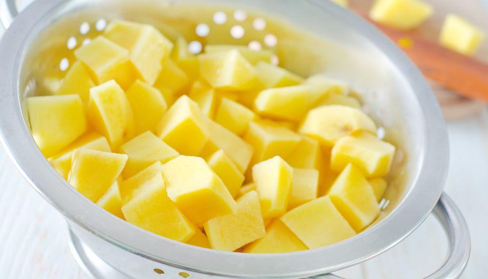 Soep binden met aardappel