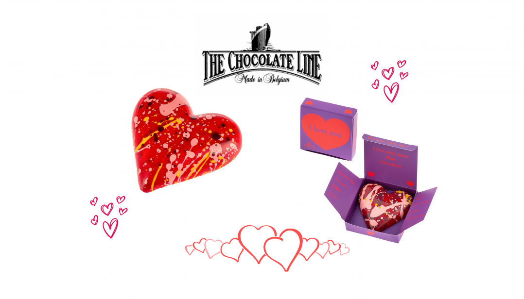 Win een chocolade Valentijnhart van Dominique Persoone