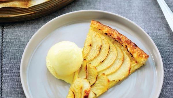 recept appeltaart met ijs