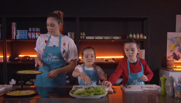 De Pottenlikkers maken een speciale omelet!