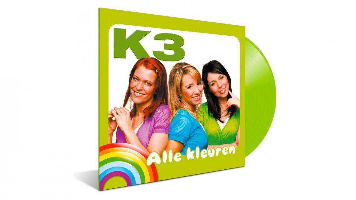 K3 album Alle Kleuren uit 2000 voor het eerst op vinyl
